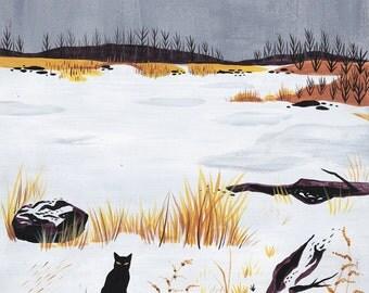 PRINT - Alone, Again. - Lisa Vanin