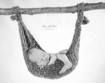 Crochet Hammock - Baby Hammock - Newborn Sling - Photo Prop - Crochet Baby Hammock