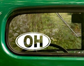 Oval OH Decal, Car Decal, Oval Ohio Sticker, Ohio Decal, Laptop Sticker, Oval Sticker, Bumper, Vinyl Decal, Car Sticker