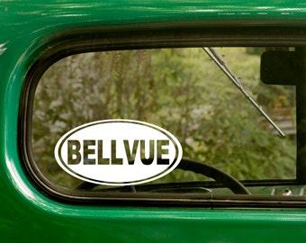 Oval Bellvue Decal, Bellvue Colorado Sticker, Decal, Car Decal, Laptop Sticker, Oval Sticker, Bumper, Vinyl Decal, Car Sticker