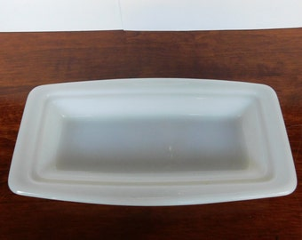 Pyrex Milk Glass Replacement Base Butter Dish Milk Glass White Bottom Only