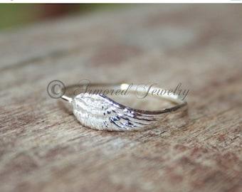 SALE SALE SALE Angel wing ring 2 - Sterling silver Angels