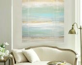 "Art, Large Painting, Original Abstract, Acrylic Paintings on Canvas by Ora Birenbaum Titled: Seaside Retreat 36x48x1.5"""