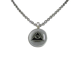 All Seeing Eye Pyramid Pendant Necklace