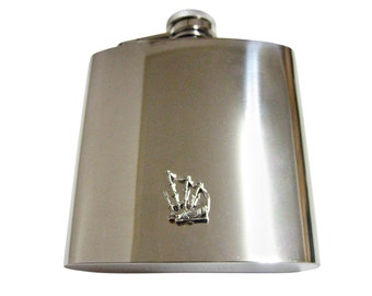 Scottish Bag Pipe 6 oz. Stainless Steel Flask
