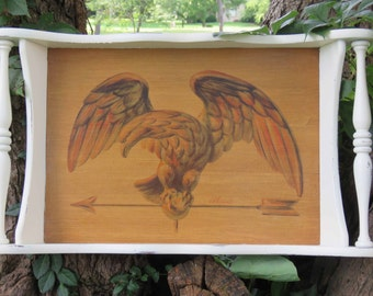 Patriotic Eagle wooden tray