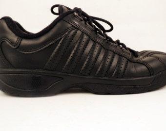 Vintage K-Swiss K Swiss Womens Size 6 Black Athletic Shoes Sneakers Tennis Gym