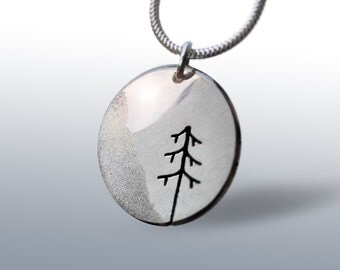 Alpine Echoes,  Silver Jewelry, Silver Pendant, Necklace.