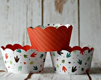 Dino Print Cupcake Wrapper