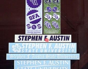 5 Pack Stephen F. Austin Decal Mystery Bundle