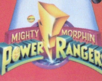 Vintage Mighty Morphin Power Rangers Information Card Saban MMPR