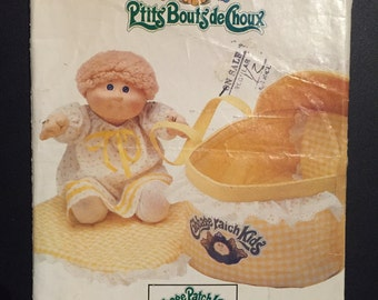 Butterick Sewing Pattern 6661 Cabbage Patch Kids Bed Carrier
