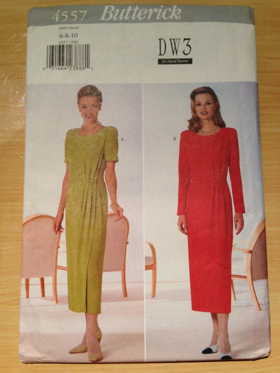 Butterick 4557 Sewing Pattern 90s UNCUT Misses and Misses Petite Dress Size 6-10