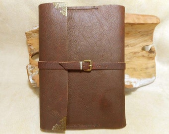 Leather Journal-Handmade from Kodiak Leather-Refillable- 2 Free Gifts with Purchase
