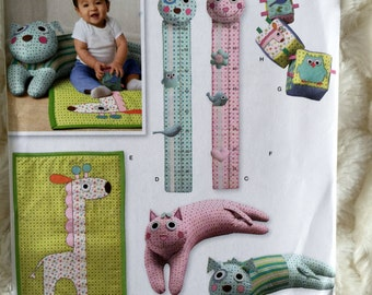 Simplicity Infants Baby Blocks Booster Pillow Play Mat Growth Chart Sewing Pattern 2389 UC FF Uncut