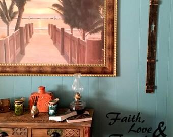 Faith Wall Decor faith love family | etsy