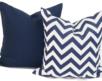 NAVY BLUE PILLOWS Set of 16x16, 18x18 or 20x20 inch.Pillow Covers.Decorative Pillows.Throw Pillow Cover. Blue Pillow.Navy Blue Cushion.cm.