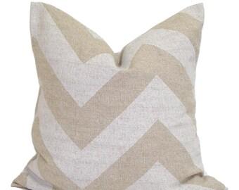 PILLOWS, Tan Pillow Cover, Decorative Pillow, Chevron Throw Pillow, Neutral Pillow, Accent Pillow, All Sizes, Pillow Sham, Tan Euro, Cushion