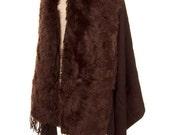 Faux Fur Cape,  Wraps Shawls  Scarf  , Woman Clothing, gift ideas - By PiYOYO 50602x2