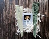 Gift Set: Veggie Seeds &  Ceramic Garden Markers..Ready to Ship