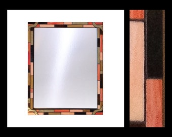 "Mosaic Mirror - ""Tangerine & Amber"""
