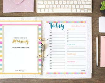 NOW ON SALE: 2016 Dated Daily Agenda - Colorful Theme