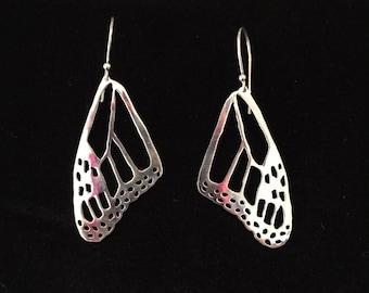 Monarch Butterfly Wing Earrings- top wing pattern