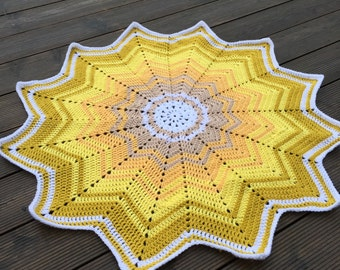 SALE - Star shaped baby blanket