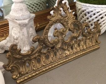 Vintage Brass Pediment Brass Salvage