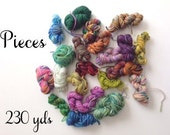 Pieces - Sock yarn remnants - 67 gm - approx 230 yds
