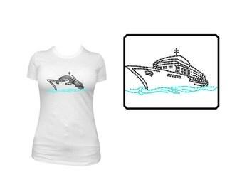 Rhinestone Shirt or Transfer- Cruise Ship