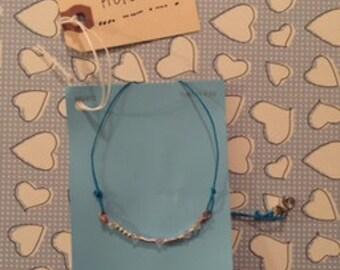 Hope Morse Code Necklace with Swarovski Crystals