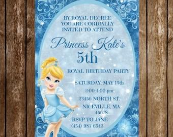 Disney Princess Birthday Invitation Download - Cinderella
