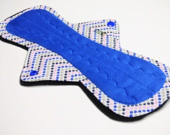 "12"" OBV or Minky Overnight Cloth Menstrual Pad / Post Partum Pad - Customize Your Flow Level , Fabrics and Backing"