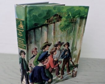 Vintage Children's Book - The Adventures Of Tom Sawyer by Mark Twain - 1982 - Illustrated Junior Library - Americana