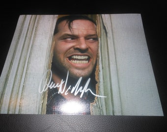 Jack Nicholson hand signed 8x10 photo - The Shining autograph - horror movie - Here's Johnny