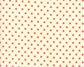 Chestnut Street Floral Polka Dot Milk Pomegranate by Fig Tree Quilts - Moda - 1 Yard