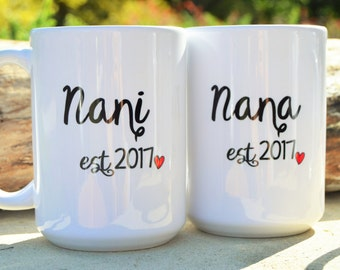 HINDI Grandparent Nani, Nana, Dadi, or Dada Mugs, PREGNANCY Reveal, Indian Hindu Gift