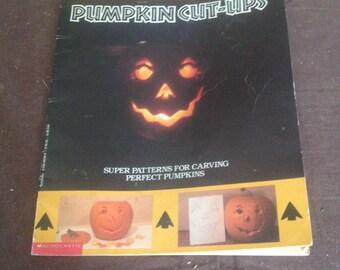 Pumpkin cut-ups book/ vintage craving books/ pumpkin craving books