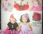 Uncut sewing pattern for Simplicity #1956 Girl Infant Babies' Toddlers Tutu & Appliques (2011) 7-24 lbs