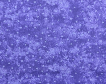 Cotton Quilting Fabric, Purple Fabric, Star Fabric, Purple Stars, Cotton Fabric, Sewing Fabric, Purple Material - 1 3/4 Yard - CFL1684