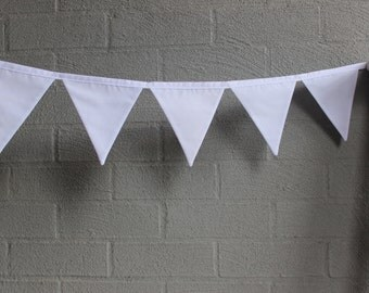 the lily - white fabric banner bunting