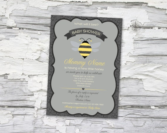 what will it bee baby shower invitation printable