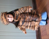"""American Girl Doll Clothes / 18"""" Doll Clothes - Faux Animal Fur Coat and Hat"""
