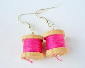 Mini Cotton Reel Earrings