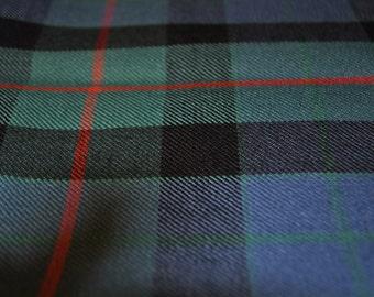 Gunn Ancient Tartan. 100% 10oz Pure New Wool. Remnant Piece.