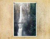 Oregon Photograph   Multnomah Falls   Columbia River Gorge   Travel Photograph   Waterfall Print   Nature Photo   Beautiful Oregon