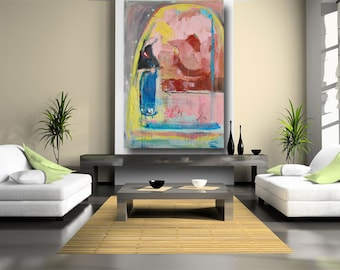 abstract art home decor wall art painting original painting colorful home decor large wall art 62 x 42 unstretched canvas by cheryl wasilow