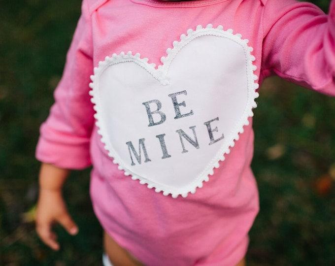 "Swanky Shank Hand-Dyed Bodysuit or Tee ""Be Mine""; Valentine Shirt"