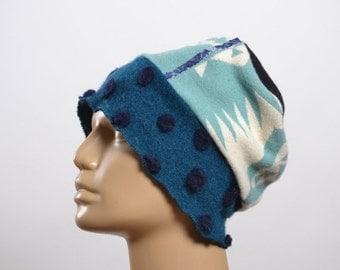 End Of Summer SALE Women's  Hats - Repurposed Wool Hat - WInter Hats -  Blanket Hat - Winter Hats - Warm Hats